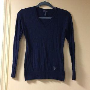 Cashmere navy light sweater